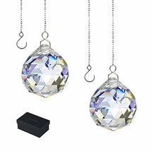 KARSLORA Clear Glass Crystal Ball Prism Rainbow Maker Feng Shui Crystals Hanging