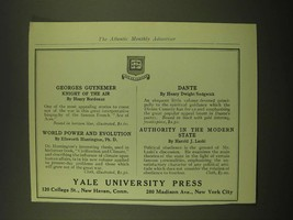 1918 Yale University Press Ad - Georges Guynemer Knight of the Air - $14.99