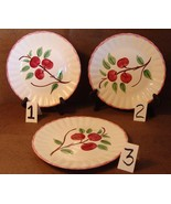 """Blue Ridge Southern Pottery Potteries Cherry Bounce Luncheon Plate 9 3/8"""" - $8.99"""