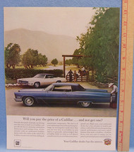Vintage Magazine Ad for Cadillac Price Your Cadillac Dealer Has The Answer - $5.93