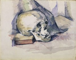 The Museum Outlet - Skull and Book, 1885, Stretched Canvas Gallery Wrapp... - $98.01