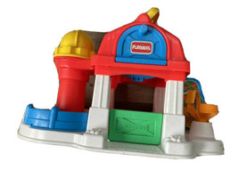 Vintage 1995 Playskool Weebles Farm Barn & Silo Horse Park Handle PLAYSET ONLY - $44.09