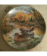 """1987 """"THE GREEN-WINGED TEAL"""" Collector Plate by Bart Jerner w/Box & COA - $22.28"""