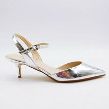 Marc Fisher Womans Caly2 High Heel Sling Back Sandal Silver Patent  Sz 11 M  - $49.49