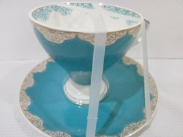 Graces Teaware Turquoise Gold Tea Cup & Saucer - $21.99