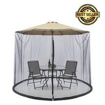 """Outdoor 9"""" Patio Table Umbrella Screen Cover Garden Lawn Mosquito Bug In... - €88,27 EUR"""