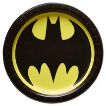 Batman Classic Logo Design Lunch Dinner Plates Birthday Party Supplies New - $4.11