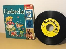 DISNEYLAND RPM RECORD STORY BOOK VINTAGE CINDERELLA PETER PAN WALT DISNE... - $19.75
