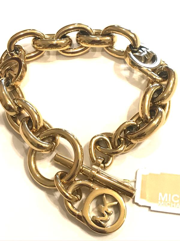 6a270509e11e70 Michael Kors women Gold Pave Link bracelet and 50 similar items