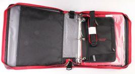 "NEW Five Star Zipper Binder + Tech Pocket, 2"", Red Black, 12-3/4"" x 12"" NWT image 3"
