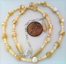Natural Mother Of Pearl Necklace - $27.22