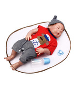 NPK 23 Inch 58cm Reborn Baby Sleeping Soft Silicone Doll Handmade Lifeik... - $138.59
