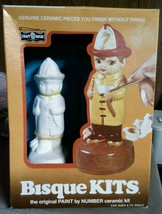 Bisque kit. Genuine ceramic pieces without firing. : B152 fireman and Cr... - $12.53