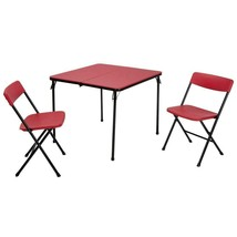 Folding Table Set Three Pieces Indoor Outdoor Stylish Plastic Durable Fu... - $77.99