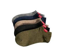 5 pairs Retro Comfortable Cotton Ankle Socks Man's Summer Socks (F)