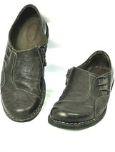 Clarks Womans 10 Comfort Shoes Collection Soft Cushion Side Zip Brown Leather  - $16.14
