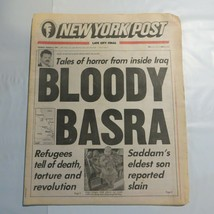 New York Post March 5 1991 Bloody Basra Iraq Saddam Refugees WAR 8J - $39.99