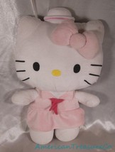 "2013 Sanrio Fiesta Plush Hello Kitty 15"" Pink Sailor Girl Dress w/Hat Se... - $24.09"