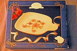 World Showcase Jay Imports Collection Floral Melody Microwave Baking DIsh - $4.15