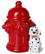 Pacific Giftware Firehouse Dalmatians and Fire Hydrant Ceramic Cookie Ja... - $24.74