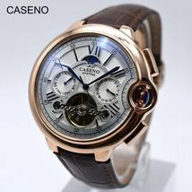 Tourbillon Mens Watch Top Brand Luxury Belt Watch Men Automatic Mechanical Wrist - €83,02 EUR