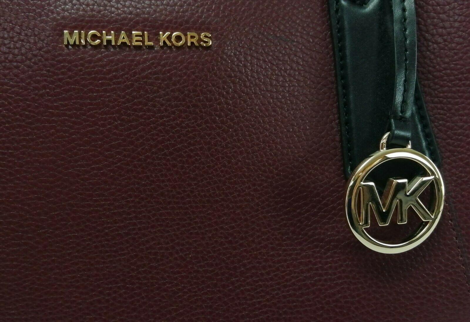 Michael Kors Cartella Top Manico Merlot pelle Rossa Kimberly Bag image 5