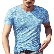 2018 New Fashion T Shirt Men O-neck Elastic Cotton Comfortable Top Tee M... - $14.22
