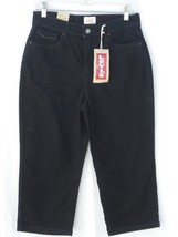 Levi's Perfectly Slimming 512 Capris Cropped Pants Jeans 10 Black NEW - $24.74