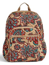 Vera Bradley Quilted Signature Cotton Iconic Campus Backpack, Desert Floral