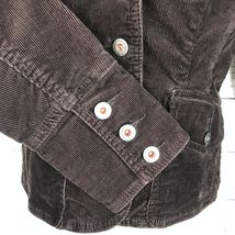 Tommy Hilfiger Corduroy Blazer Jacket Women's S Brown Stretch Button Long Sleeve image 4