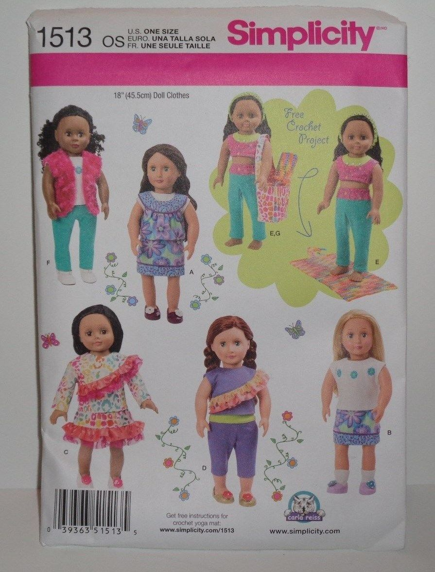 18 Doll Clothes Pattern Simplicity Fits And 50 Similar Items
