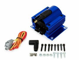 A-TEAM PERFORMANCE 12 VOLT EXTERNAL IGNITION COIL 50K VOLT E-CORE STYLE BLUE