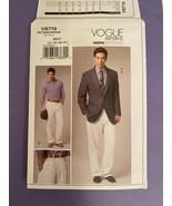 NEW Vogue Men's Suit Jacket & Pants Sizes 34-40 Pattern 8719 Uncut /FF - $14.85