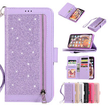 For iPhone 12 Pro Max 11 XR 6s 7 8+ XS Leather Wallet Magnetic flip back... - $59.50