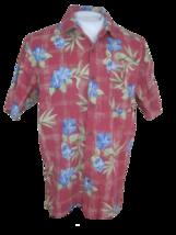 JOE MARLIN Men Hawaiian ALOHA shirt pit to pit 23 sz L cotton rayon flor... - $15.67