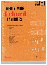 Song Book ~ Twenty More 4-Chord Favorites ~ Organ ~ Arr. Chester Nordman ~  - $16.78