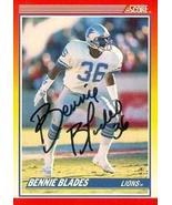 Bennie Blades autographed Football Card (Detroit Lions) 1990 Score #246 - $14.00