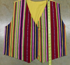 Native American Little Boy Regalia Vest Corduroy Stripes Yellow Small - $29.99