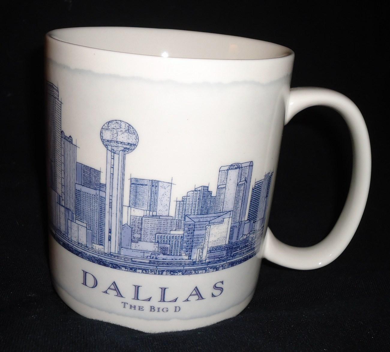 Starbucks Architect City Coffee Cup Tea Mug Dallas Texas The Big D 18 oz