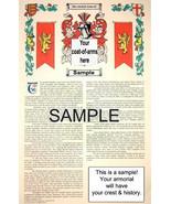 O'GARRETT - O'GARY Coat of Arms (Armorial Name History) Family Crest 11x... - $18.99