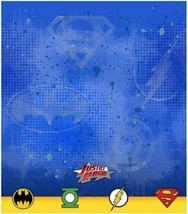 Justice League Rescue Super Hero Plastic Table Cover Birthday Party Supplies New - $7.87