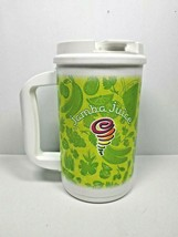 Jamba Juice Plastic Insulated Thermos Cup Whirley DrinkWorks 32oz with L... - $13.85