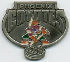 NHL Licensed Pin Phoenix Coyotes Hockey Pewter Pin - $5.00