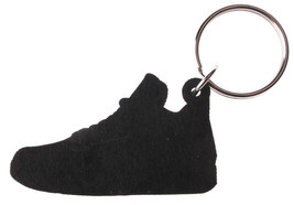 Good Wood NYC Retro Bred 4 Sneaker Keychain Black/Grey IV Shoe Ring Key Fob