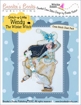 Stitch-A-Little: Wendy The Winter Witch Chartpack cross stitch Brooke's ... - $9.90