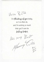 "MANNY TRILLO AUTOGRAPHED AND WRITTEN GET WELL CARD MLB A,s,  CUBS ""RARE"" - $5.34"