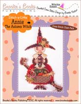 Stitch-A-Little: Annie The Autumn Witch Chartpack cross stitch Brooke's ... - $9.90