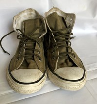 Converse  All-Star Sneakers Army Green Youth Size 3 - $15.00