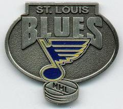 NHL Licensed Pin St. Louis Blues Hockey Pewter Pin - $5.00