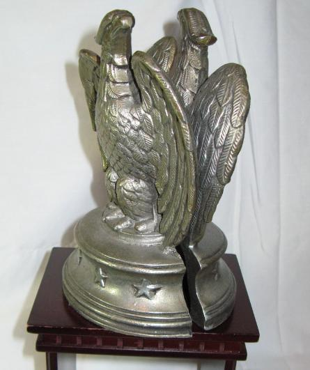 Sexton Solid Cast Pewter Eagle Bookends - Book Ends